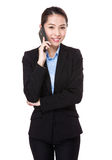Businesswoman talk to phone Royalty Free Stock Image