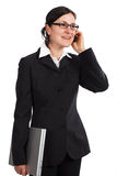 Businesswoman talking Royalty Free Stock Photography