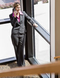 Businesswoman talking on cell phone Royalty Free Stock Image
