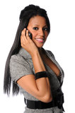 Businesswoman Talking On Cell Phone Stock Image