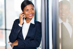 Businesswoman talking cell phone Royalty Free Stock Photo