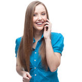 Businesswoman talking on cell phone Stock Photography