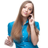 Businesswoman talking on cell phone Royalty Free Stock Photo