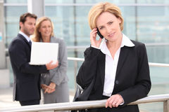 Businesswoman talking on cellphone Royalty Free Stock Image