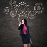 Businesswoman talking on cellphone Stock Images