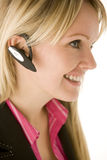 Businesswoman Talking On Hands Free Phone Royalty Free Stock Photography