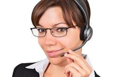 Businesswoman talking on headset Royalty Free Stock Photo