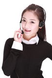 Businesswoman talking on headset Royalty Free Stock Photo