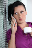 Businesswoman talking on her cell Stock Photography