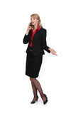 Businesswoman talking on her cell Royalty Free Stock Photography