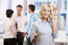 Businesswoman talking on mobile Stock Photography