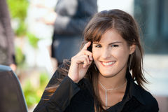 Businesswoman talking on mobile Stock Photos