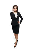 Businesswoman talking on the mobile cell phone Stock Photography