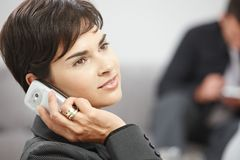 Businesswoman talking on mobile phone Royalty Free Stock Photo