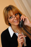 Businesswoman talking on the mobile phone Royalty Free Stock Photo