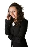 Businesswoman talking on mobile phone Royalty Free Stock Photos