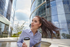 Businesswoman talking on the mobile phone Stock Image