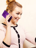Businesswoman talking on mobile phone smartphone Royalty Free Stock Photo