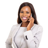 Businesswoman talking mobile phone Royalty Free Stock Images