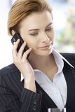 Businesswoman talking on mobilephone Royalty Free Stock Photo
