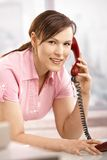 Businesswoman talking on phone Stock Photo