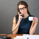 Businesswoman talking phone Stock Image