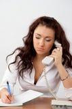 Businesswoman talking phone Stock Photography