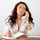 Businesswoman talking phone Royalty Free Stock Photo