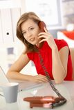 Businesswoman talking on phone Stock Photos