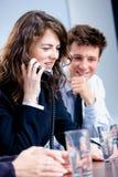 Businesswoman talking on phone Stock Photo