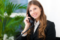 Businesswoman talking on the phone Stock Images