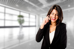 Businesswoman talking on phone Royalty Free Stock Image