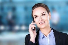 Businesswoman talking on phone Royalty Free Stock Photos