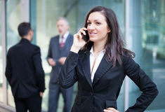 Businesswoman talking on the phone Royalty Free Stock Photography