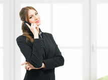 Businesswoman talking on the phone Royalty Free Stock Images