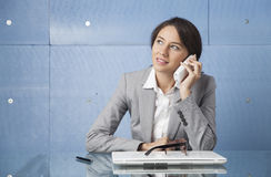Businesswoman talking on phone. Royalty Free Stock Photography