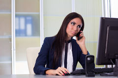 Businesswoman talking at the phone Royalty Free Stock Photo