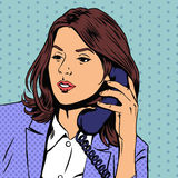 Businesswoman talking on the phone. Vector Stock Image