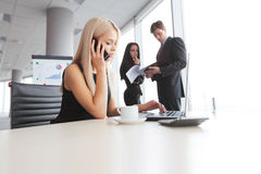 Businesswoman talking on phone Stock Photography