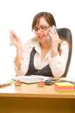 Businesswoman talking to phone Stock Photo