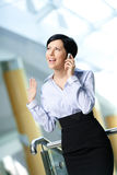Businesswoman talks on telephone Royalty Free Stock Image