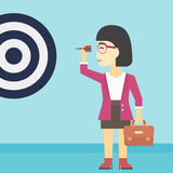 Businesswoman and target board vector illustration Stock Image