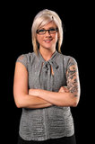 Businesswoman With Tattoos and Piercing Royalty Free Stock Image