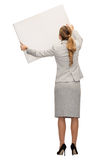 Businesswoman or teacher in suit from back Royalty Free Stock Image