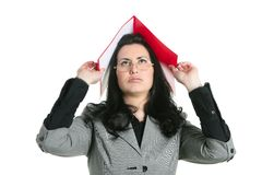 Businesswoman teacher woman busy upset Royalty Free Stock Photo