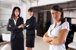 BusinessWoman Team. Focus is on the woman in front Stock Images