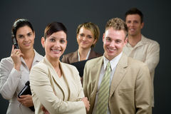Businesswoman and team Royalty Free Stock Images