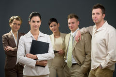 Businesswoman and team Royalty Free Stock Photo