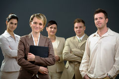 Businesswoman and team royalty free stock photos