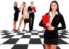 Businesswoman and team Stock Photography